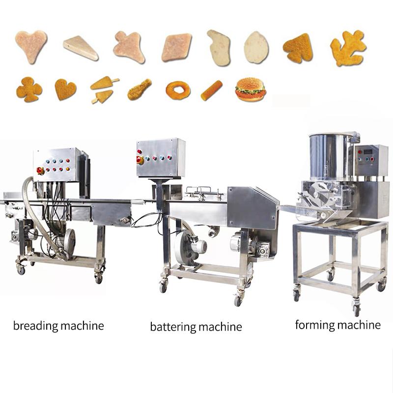 全自动汉堡鸡排肉饼生产线